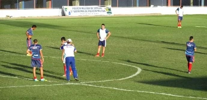 Treino, Itabaiana, Etelvino Mendonça (Foto: Beto Silveira)
