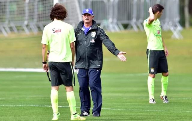 Luiz Felipe Scolai Felipão david luiz seleção brasileira (Foto: Gaspar Nóbrega/VIPCOMM)