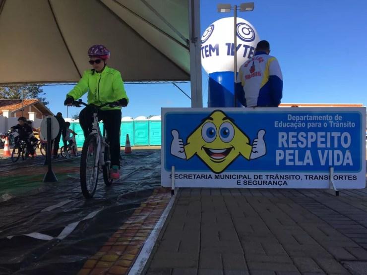 Passeio Ciclístico foi promovido pela TV TEM neste domingo (20) (Foto: Renato Pavarino/G1)
