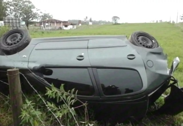 Acidente em estrada municipal de Araranguá matou um idoso (Foto: NSC TV/Reprodução)