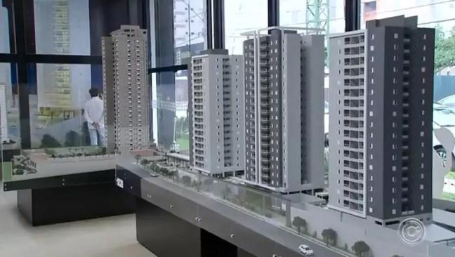 Venda de imóveis em Sorocaba — Foto: Reprodução/ TV TEM