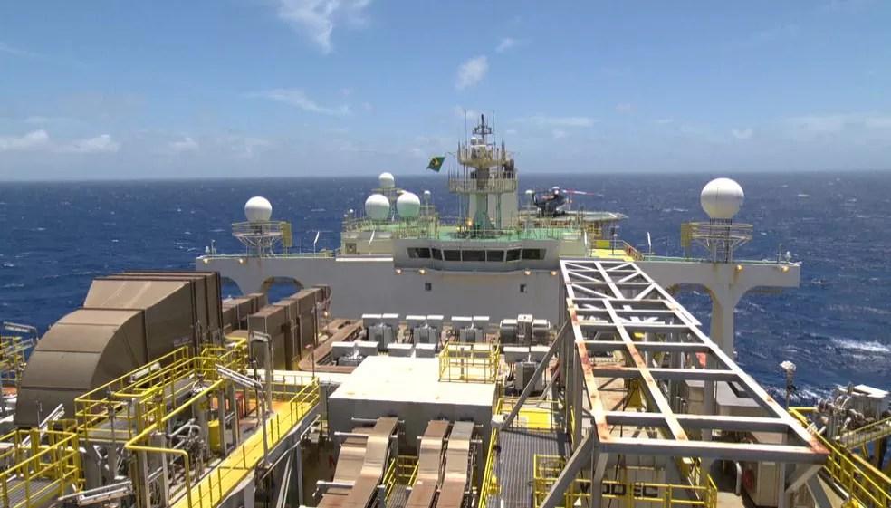 Plataforma de exploração de petróleo  — Foto: Reprodução/ TV Globo