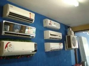 Em uma loja de ar condicionado, a venda já aumentou 10% em relação a 2010 (Foto: Lynne Aranha / G1 Itapetininga)