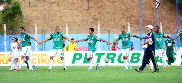 Jogadores Palmeiras x Fluminense (Foto: Marcos Ribolli / Globoesporte.com)