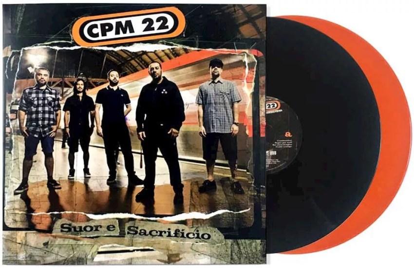 Edição em LP duplo do álbum 'Suor e sacrifício', do grupo CPM 22 — Foto: Divulgação