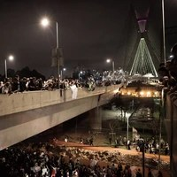 SP: protesto pacífico  ocupou ruas da capital (Caio Kenji/G1)