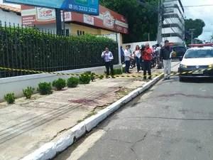 Policial Militar foi atingido por 3 tiros na altura do ombro (Foto: Gilcilene Araújo/G1)