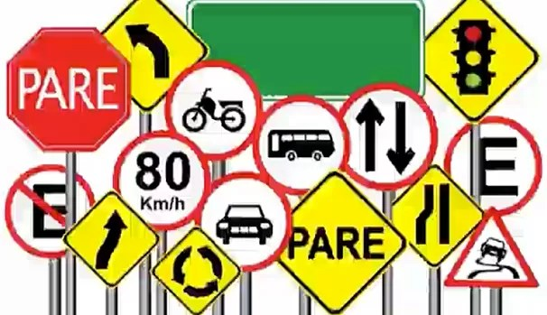 Placas auxiliam na sinalização de trânsito (Foto: Reprodução/RBS TV)