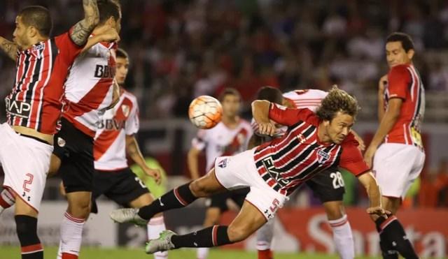 River Plate x São Paulo Lugano (Foto: Rubens Chiri/saopaulofc.net)