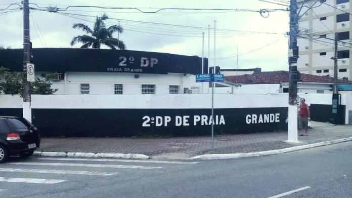 Caso foi registrado no 2º Distrito Policial de Praia Grande, SP — Foto: Reprodução/Praia Grande Mil Grau