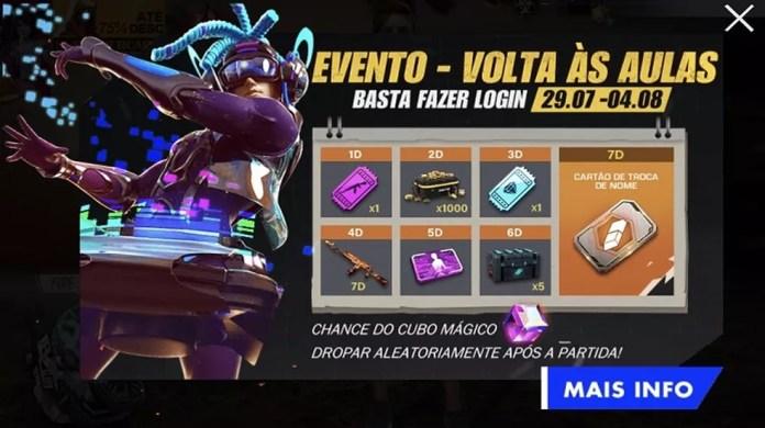 Volta às aulas dará oportunidade de jogadores ganharem itens cosméticos — Foto: Divulgação/Garena