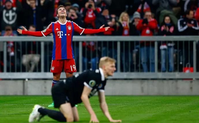 Gotze Bayern de Munique x Eintracht Braunschweig (Foto: AP)