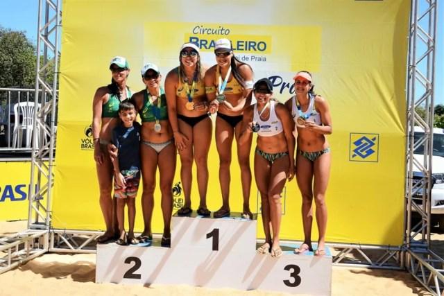 Tainá Bigi (à direita) vence etapa Circuito Brasileiro Challenger em Palmas (Foto: Marcus Mesquita/CBV)
