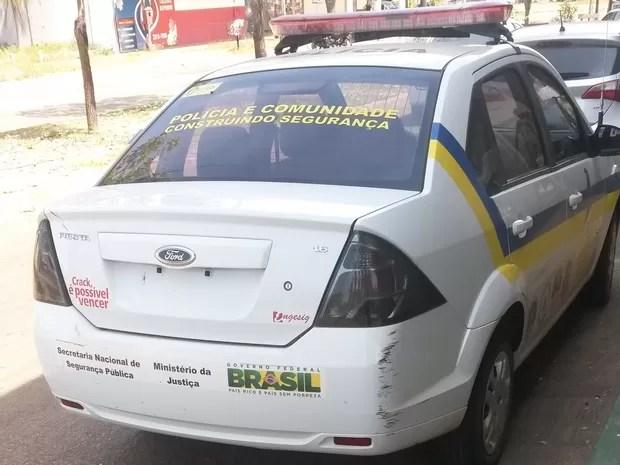 Carro da assessoria de polícia comunitária (Foto: Divulgação)