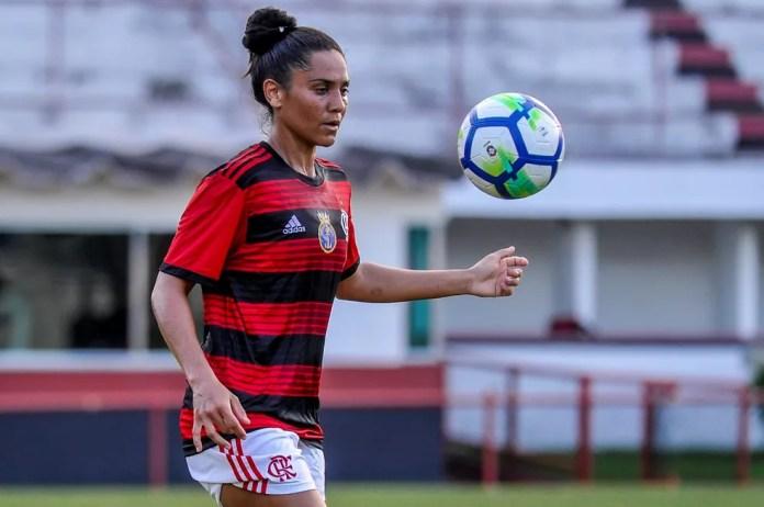 Lu Meireles atuava pelo Flamengo desde 2019 — Foto: Marcelo Cortes / Flamengo