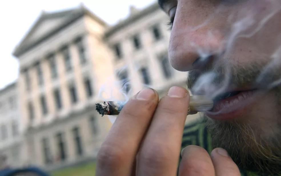 A maconha possui menos componentes químicos que o tabaco industrializado, porém queima de maneira menos eficiente e não possui filtro quando consumida em forma de cigarro. — Foto: Matilde Campodonico/AP