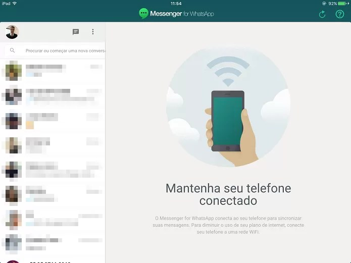 Acessando o WhatsApp pelo iPad (Foto: Felipe Alencar/TechTudo) (Foto: Acessando o WhatsApp pelo iPad (Foto: Felipe Alencar/TechTudo))