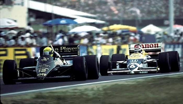 Ayrton Senna Nelson Piquet Hungria 1986