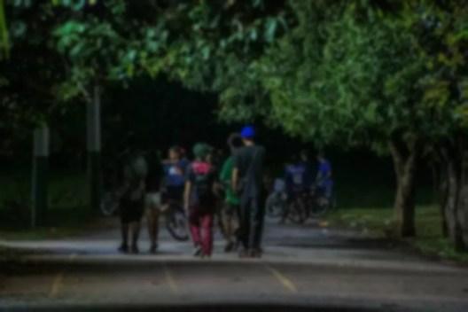 Aglomeração de jovens durante pandemia em Porto Velho  — Foto: Daiane Mendonça/ Governo de Rondônia