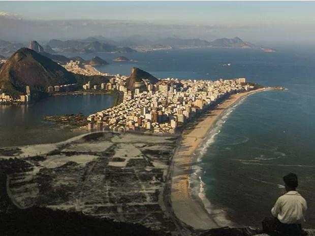 Vista do Vidigal, na Zona Sul do Rio (Foto: Augusto Malta / Marcello Cavalcanti)