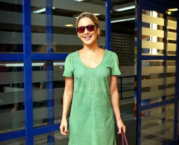 Claudia Leitte chega no estúdio do The Voice Brasil  (Foto: Isabella Pinhiero/TV Globo)