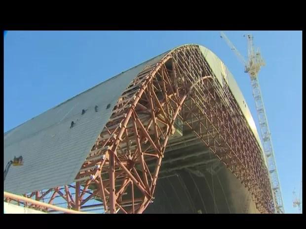 Reator destruído em Chernobyl ganhará 'escudo' (Foto: BBC)
