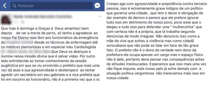 Na época, caso ficou conhecido após mãe de Jaqueline postar o acontecimento com a filha nas redes sociais (Foto: Reprodução/Facebook)
