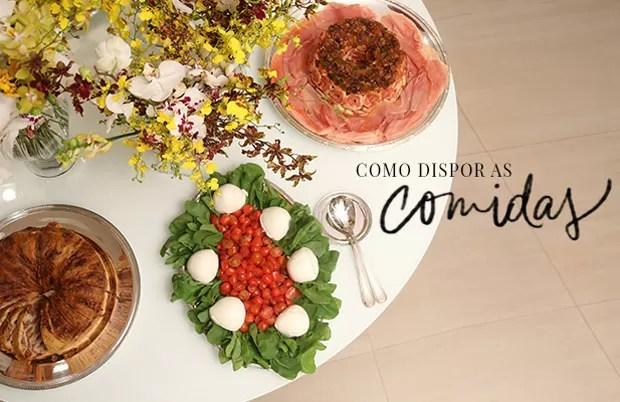Um charmoso buffet para servir a comida (Foto: Michele Moll / Divulgação)