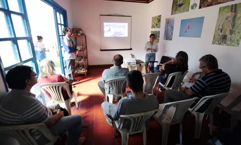 Lançamento foi realizado na última quarta-feira (22) na sede do parque, situada na praia do Farol de São Thomé — Foto: Divulgação/Uenf