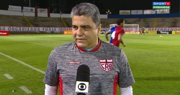 Cabo disse que CRB sentiu o segundo gol no comecinho do 2º tempo — Foto: Reprodução Sportv