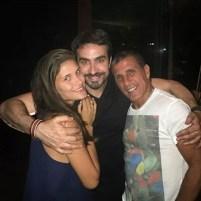 Padre Fábio de Melo com Eri Johnson e Alice Souto (Foto: Instagram/Reprodução)