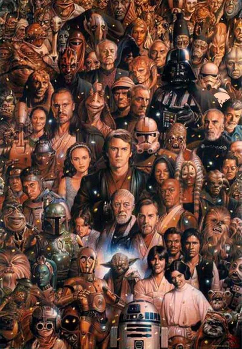 Encontre o panda entre os personagens de Star Wars(FOTO: REPRODUÇÃO/YOUSUF J)
