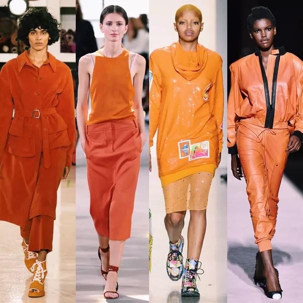 Resultado de imagem para cor laranja semana de moda paris 2018