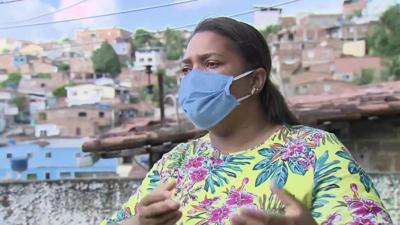 Mirtes Renata Souza, mãe do menino Miguel Otávio, de 5 anos, que morreu ao cair de um prédio de luxo no Centro do Recife — Foto: Reprodução/TV Globo
