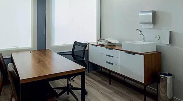 Consultório do coworking (Foto: Lucas Abin)