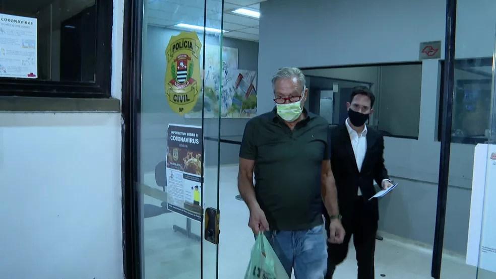 Wilson foi detido por jogar gás de pimenta em apartamento em obras na Zona Sul de SP — Foto: Reprodução/TV Globo