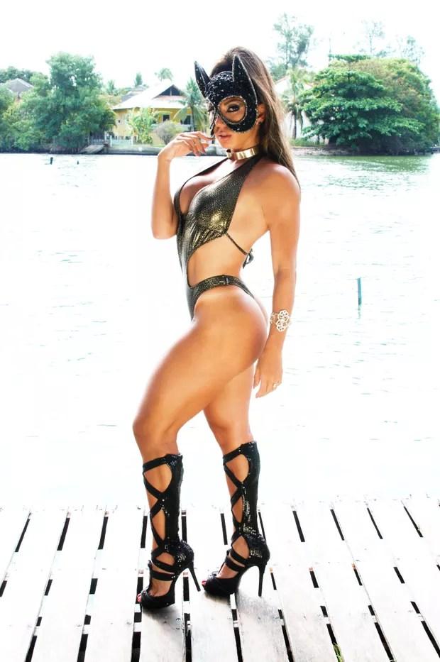Andrea Andrade, musa das supercoxas (Foto: wagner carvalho / R2assessoria)