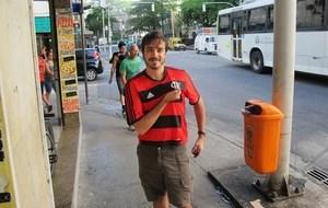Rafael Diniz torcedor do Flamengo que veio de Brasilia  (Foto: Cauê Rademaker)