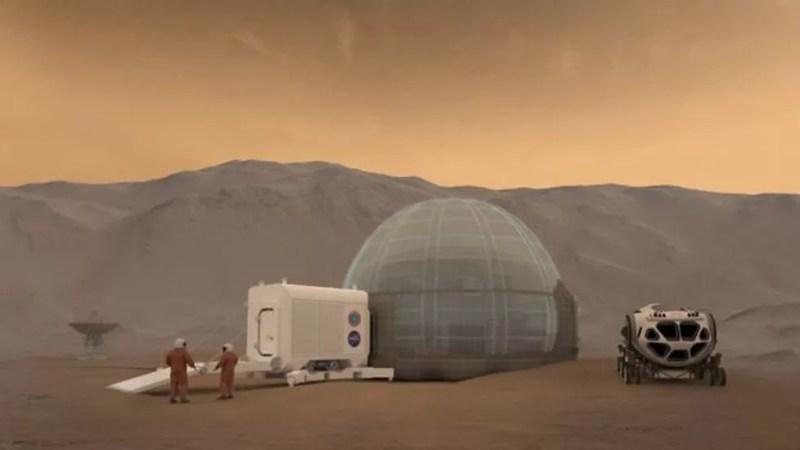 A Nasa tem planos de enviar astronautas a Marte — Foto: NASA