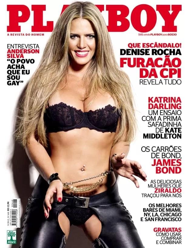 'Playboy' divulga capa com ex-assessora parlamentar (Foto: Reprodução)