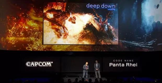 Yoshi Ono, produtor de 'Street Fighter', mostra novo game 'Deep Down', da Capcom. (Foto: Reprodução)