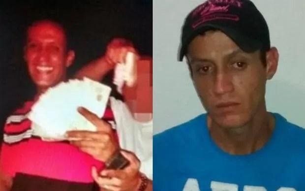 Em uma das fotos encontradas no pen drive apreendido, Rodrigo Galvão Pereira aparece com o dinheiro que teria sido furtado de lojas de Colinas do Tocantins (Foto: Divulgação)