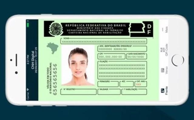 Versão digital da CNH tem mesmo valor jurídico que o do documento impresso — Foto: Divulgação/Serpro