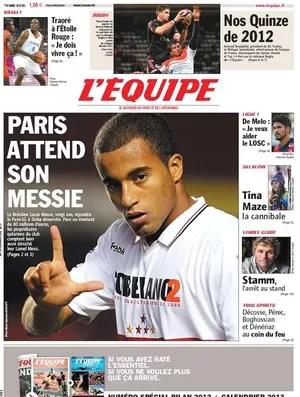 Capa do Lequipe com Lucas (Foto: Reprodução / Lequipe.fr)