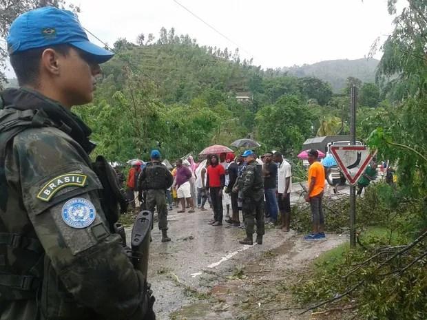 Passagem do furacão Matthew pelo Haiti (Foto: Minustah/Divulgação)