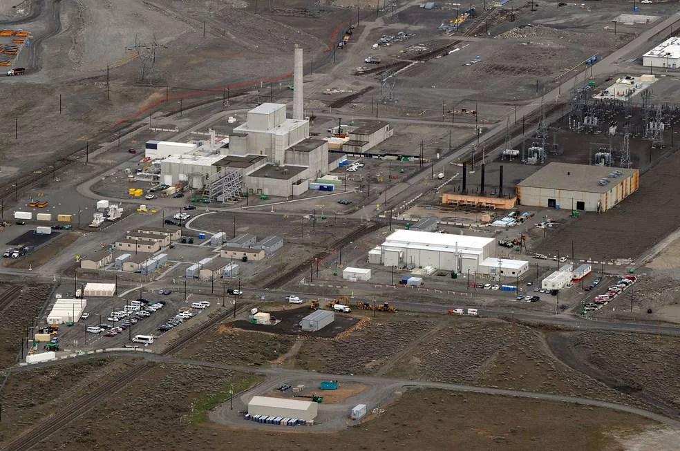 Foto de arquivo mostra um reator nuclear em Hanford, Washington  (Foto: Mark Ralston/AFP)