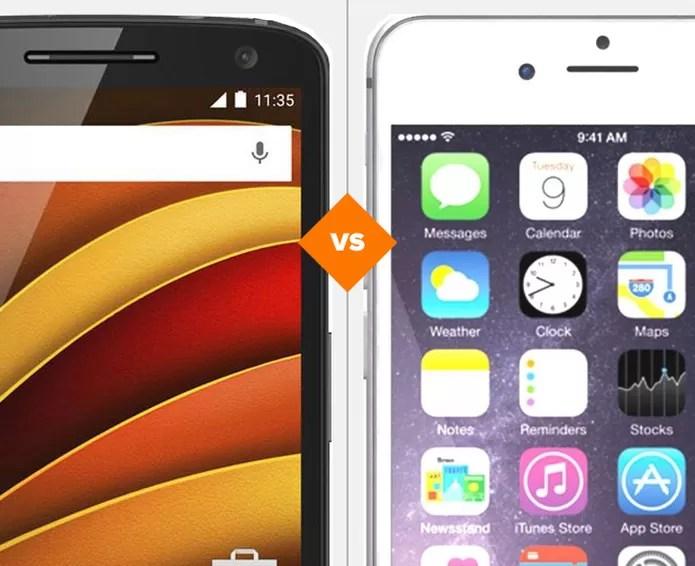 Moto X Force ou iPhone 6S Plus? Descubra qual top é o melhor para você (Foto: Arte/TechTudo)