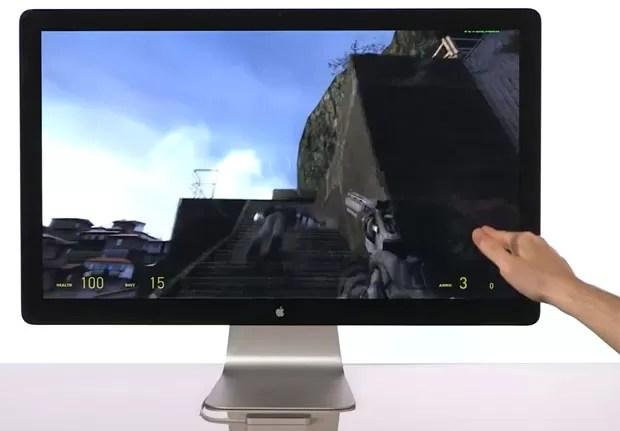 Games de tiro em primeira pessoa podem ser jogados com gestos das mãos (Foto: Divulgação)