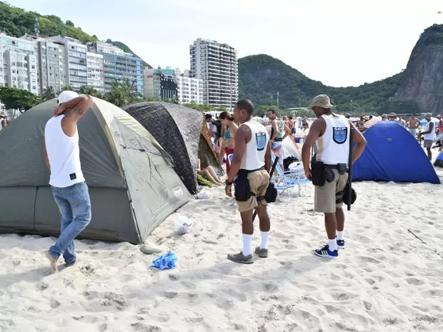 Barracas de camping foi desmontada pela Prefeitura (Foto: Divulgação/SEOP)