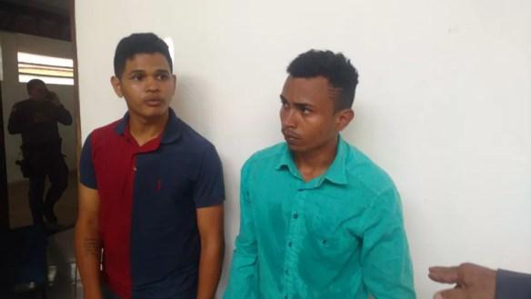 Daniel da Silva Rodrigues e Ícalo Rafael Freitas Cardoso foram presos pela tentativa de assalto a agência dos Correios (Foto: Divulgação/Polícia Civil )